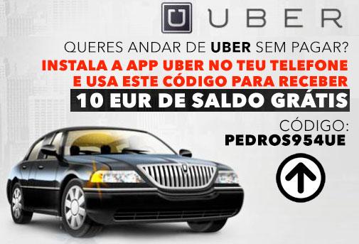 Uber viagens grátis