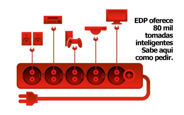 A EDP está a OFERECER Tomadas Inteligentes. Sabe aqui como pedir uma