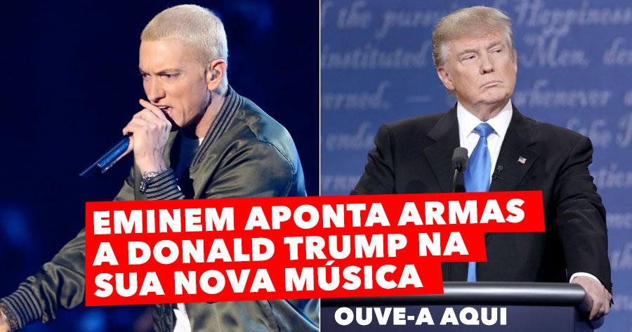 EMINEM aponta armas a Donald Trump na sua Nova Música