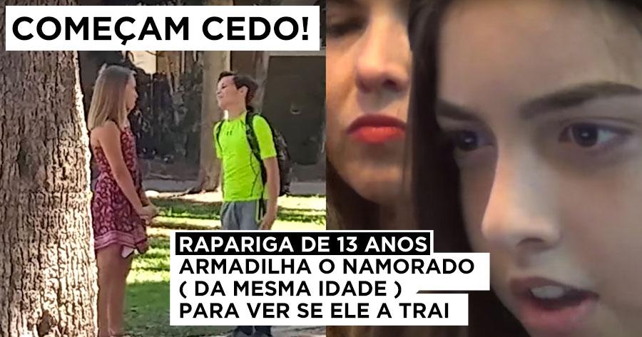 """Crianças de 13 anos já lançam """"armadilha"""" aos Namorados"""