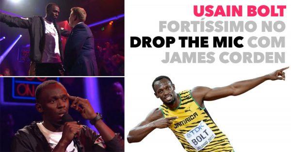 USAIN BOLT fortíssimo no Drop the Mic com o James Corden