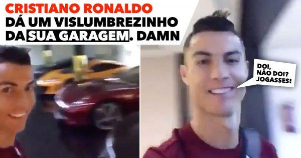 Cristiano Ronaldo dá um vislumbrezinho da sua GARAGEM. DAMN