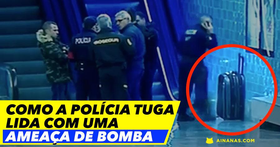 """Como a polícia tuga lida com uma """"AMEAÇA DE BOMBA"""""""