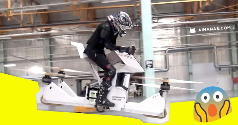 OMG fizeram uma hoverbike manobravel e funcional
