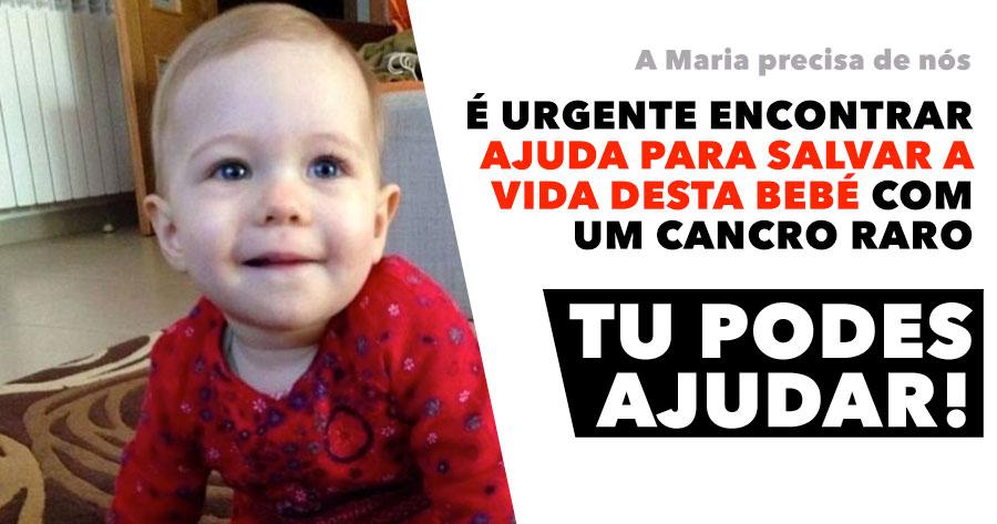 É urgente encontrar ajuda para salvar a vida a uma bebé com cancro. tu PODES ajudar!