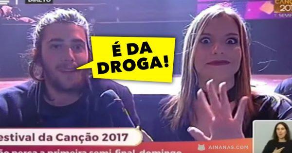 SÃO AS DROGAS: Finalista do Festival da Canção Revela o Seu Truque
