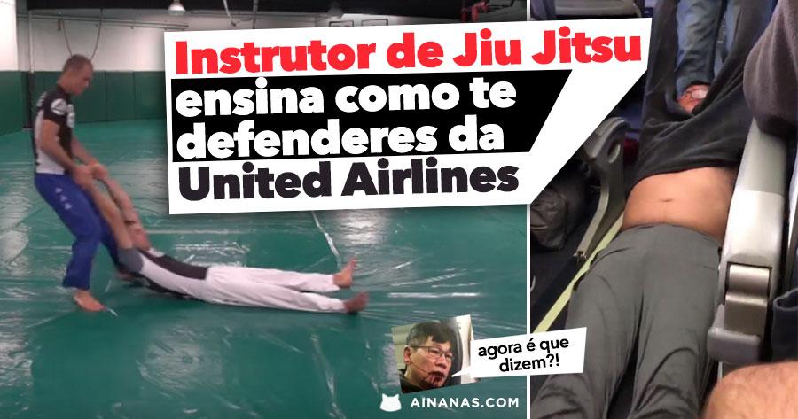 Instrutor de Jiu Jitsu ensina como te defenderes da United Airlines