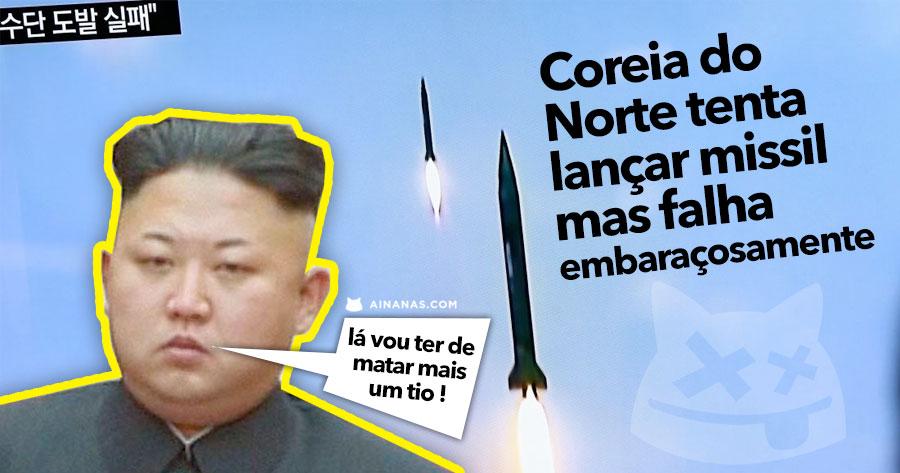 Coreia do Norte tenta lançar Missil mas Falha Embaraçosamente