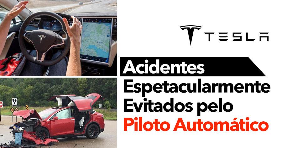 TESLA: Acidentes Espetacularmente Evitados pelo Piloto Automático