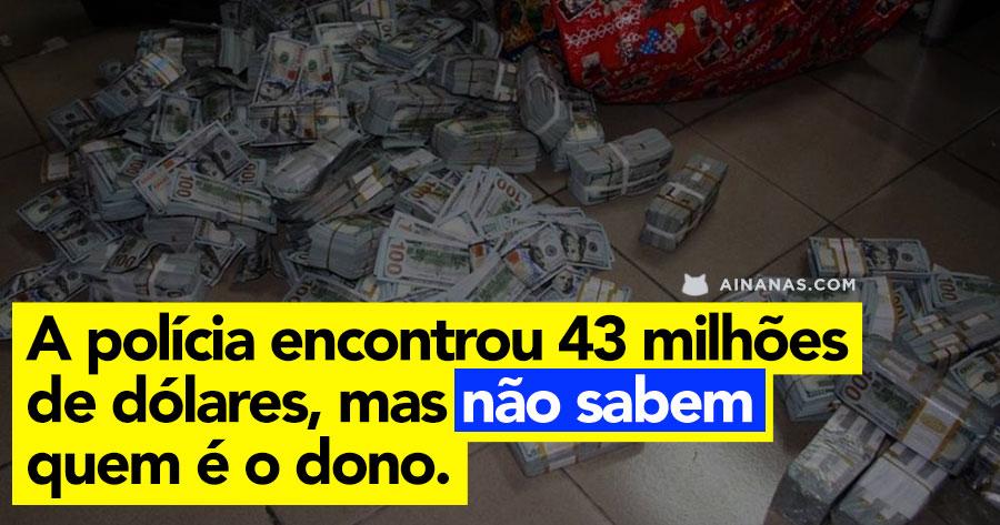 Polícia encontrou 43 milhões de dólares… e não sabem quem é o dono!