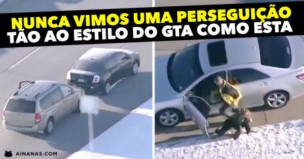 Nunca vimos uma perseguição tão ao estilo do GTA como esta !