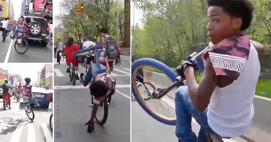 QUE MESTRE. Este puto faz o que quer da bike!
