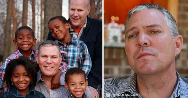 Ele adoptou 4 crianças para lhes dar a infância que nunca teve
