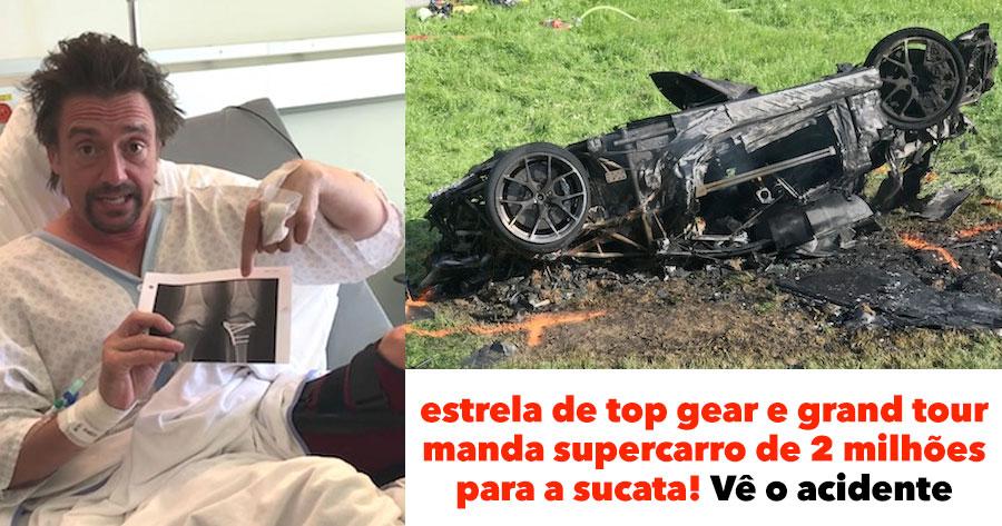 Estrela de TOP GEAR manda Supercarro para a Sucata