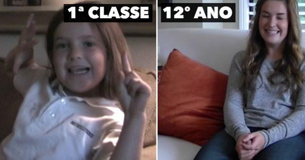 Pai entrevista a filha desde a PRIMEIRA CLASSE até ao 12º ANO