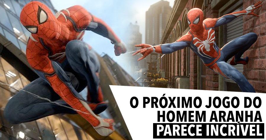 O Próximo Jogo do SPIDER MAN para a PS4 parece INCRÍVEL
