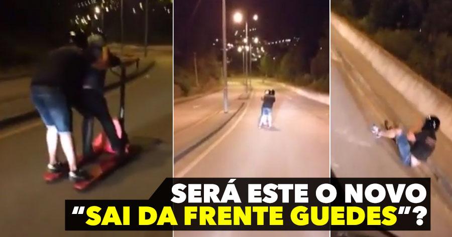 Downhill em PORTA PALETES? Só em Portugal