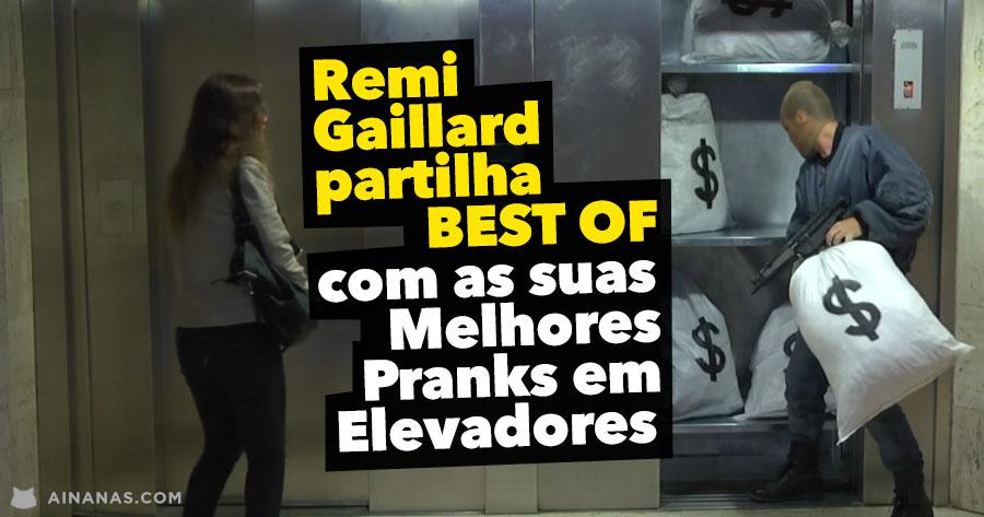 Remi Gaillard partilha BEST OF com as Suas Melhores Pranks em Elevadores