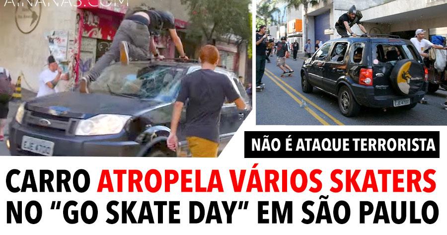 Condutor Atropela Vários Skaters no Brasil