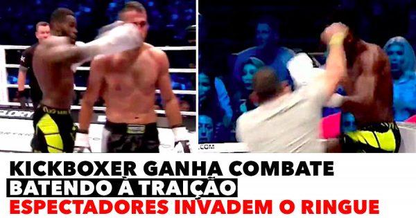 Kickboxer ganha batendo à TRAIÇÃO e leva porrada dos espectadores