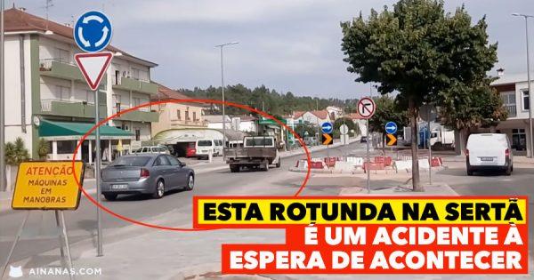 Rotunda na Sertã é um ACIDENTE à espera de acontecer