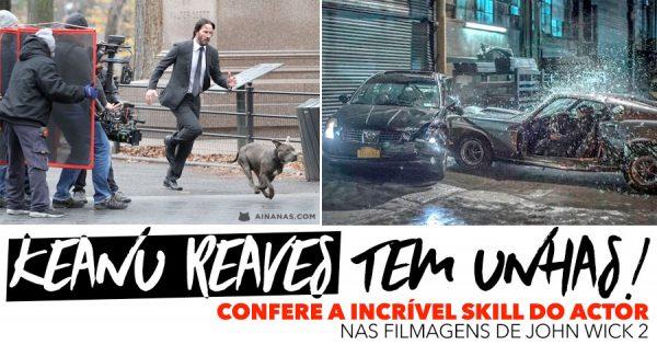 Confere a incrível skill de KEANU REAVES ao Volante nas Filmagens de John Wick 2