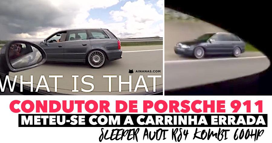 Condutor de PORSCHE 911 meteu-se com a carrinha Audi errada!