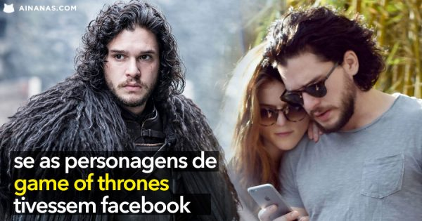Se as personagens de GAME OF THRONES tivessem Facebook