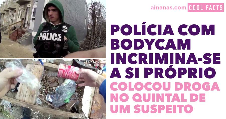 Policia filmado a ESCONDER DROGA no quintal de um suspeito