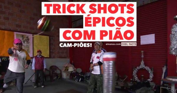 TRICK SHOTS Épicos com pião!