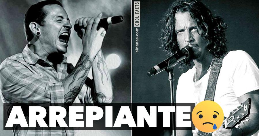 "ARREPIANTE: Chester Bennington cantou ""Hallelujah"" no funeral de Chris Cornell"