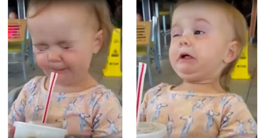 Bebé experimenta COCA-COLA pela primeira vez e tripa-se toda!