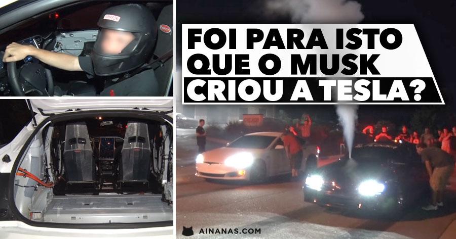 Tesla P100D estripado trolla as ruas com a sua aceleração monstruosa