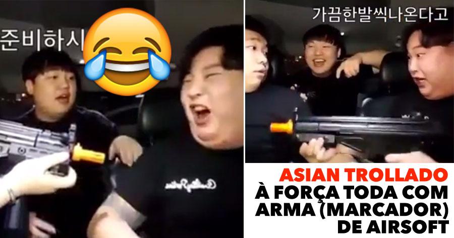 Asian é Trollado à Força toda com Arma de Airsoft
