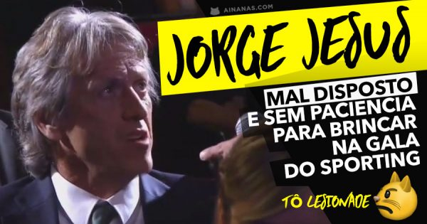 JORGE JESUS mal disposto e sem paciencia para piadas na Gala do Sporting