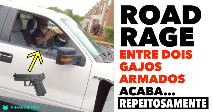 ROAD RAGE entre condutores ARMADOS acaba.. respeitosamente!