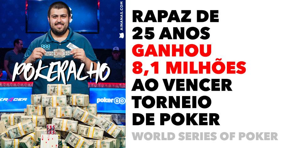 Rapaz de 25 anos ganha MAIS DE 8 MILHÕES ao vencer torneio de Poker