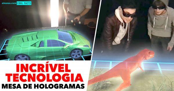 Espetacular Tecnologia MESA DE HOLOGRAMAS
