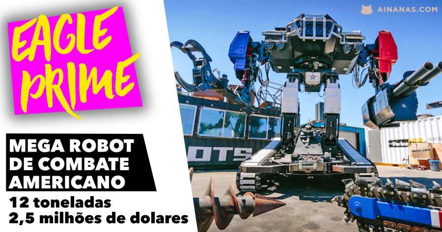 Mega ROBOT DE COMBATE Americano pesa 12 toneladas