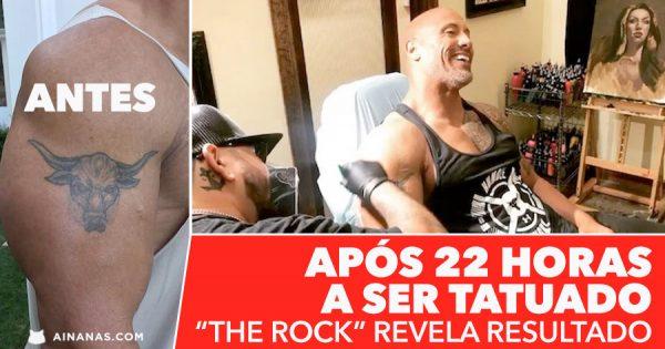Após 22 HORAS a ser tatuado THE ROCK mostra o resultado