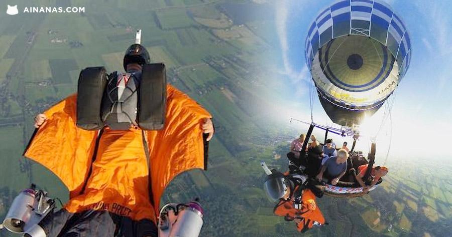 Wingsuit + Botas Jacto = IRON MAN