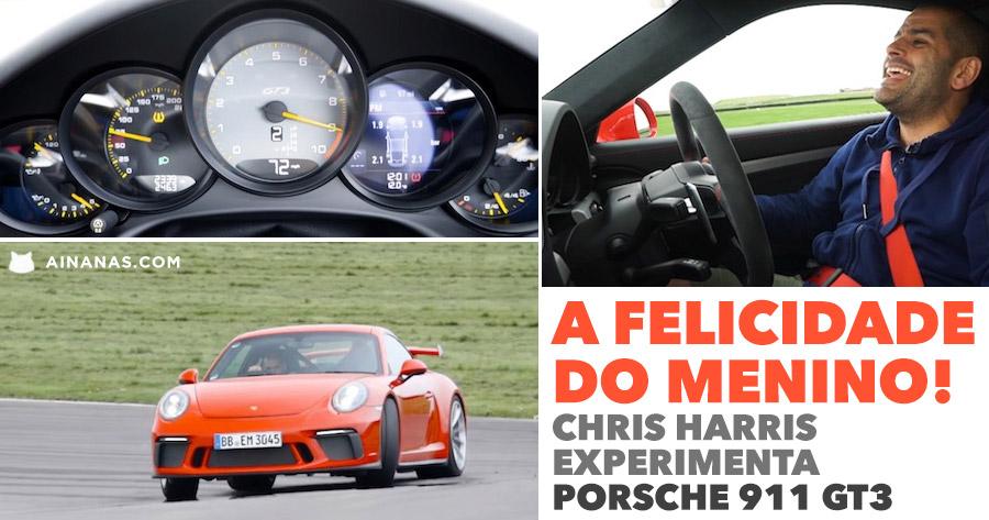 CHRIS HARRIS parece um puto ao voltante do novo Porsche GT3
