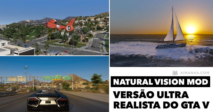 Mod Incrível do GTA V com Gráficos Ultra Realistas
