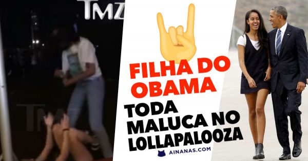 Filha do Obama toda maluca no Lollapalooza