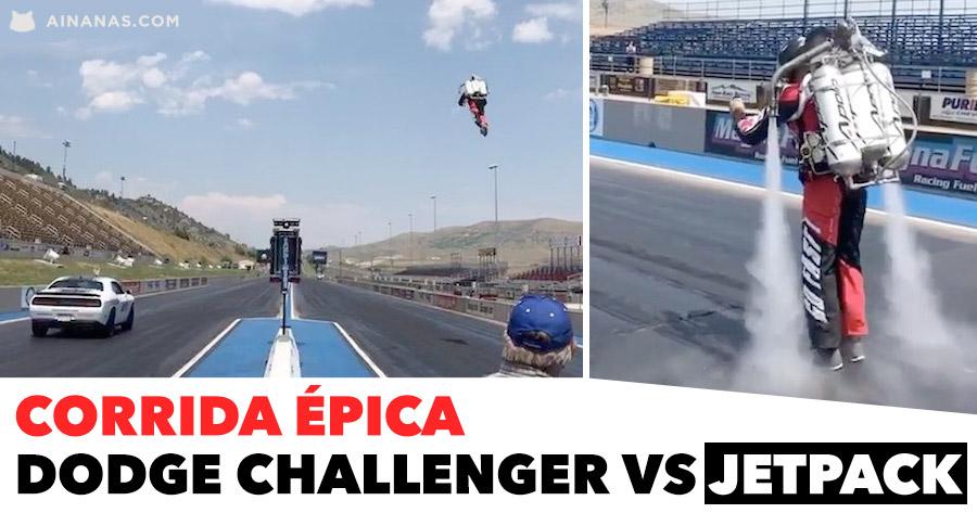 CORRIDA ÉPICA: Dodge Challenger vs Jetpack