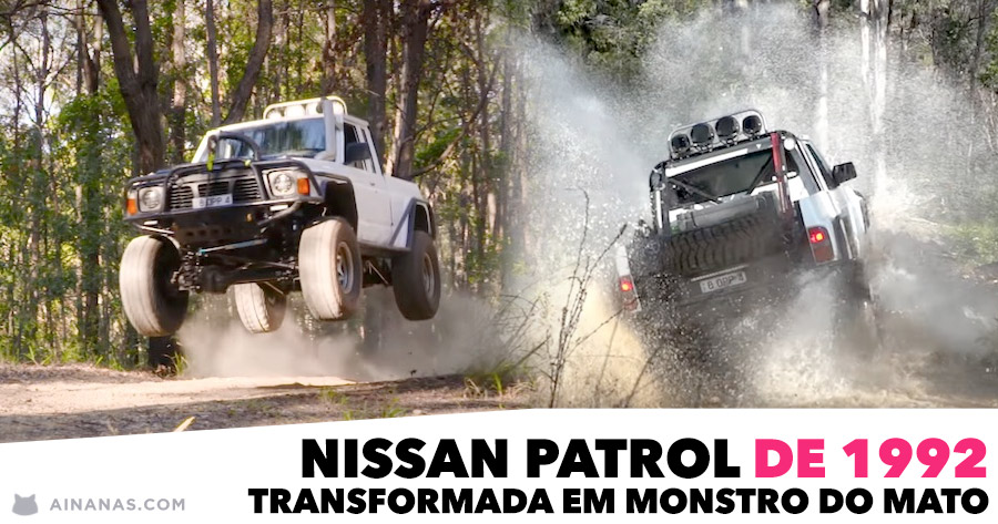 Nissan Patrol de 1992 transformada em MONSTRO DO MATO