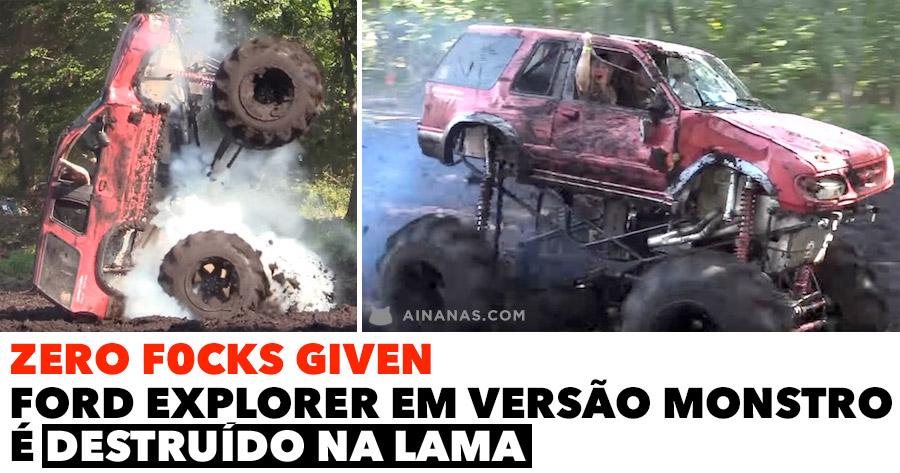 ZERO F0CKS GIVEN: Monstro destruído na lama