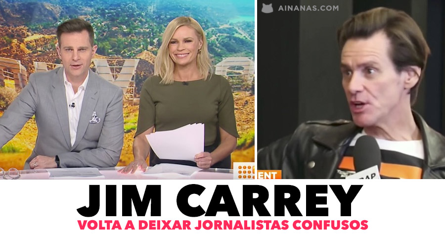 JIM CARREY volta a deixar jornalistas confusos