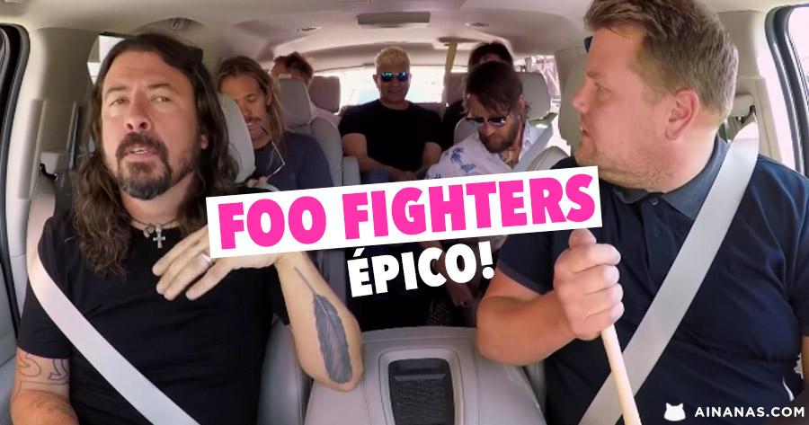 Carpool Karaoke com os FOO FIGHTERS é dos Melhores de Sempre