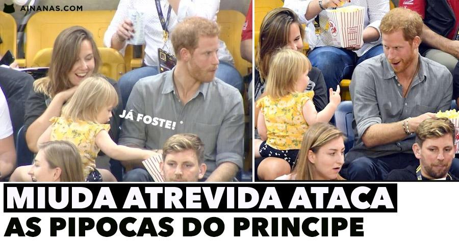 Miuda Atrevida ROUBA PIPOCAS ao Principe Harry